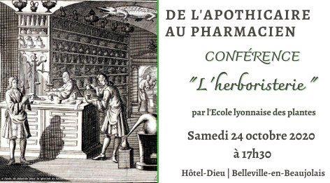 Conférence l'Herboristerie de Richard Arnoldi à l'Hôtel-Dieu de Belleville-en-Beaujolais_24 octobre 2020
